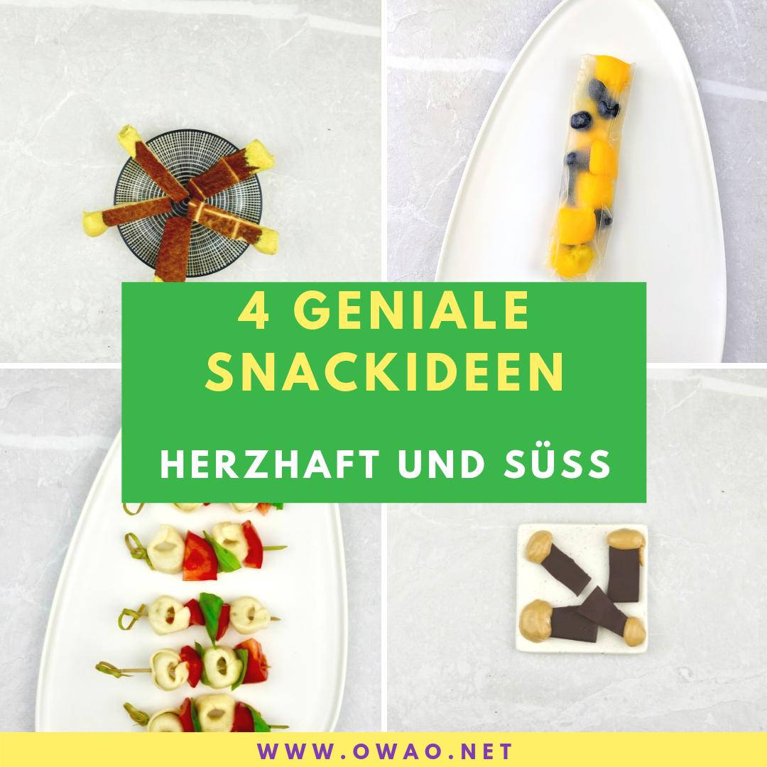4 Snackideen-Ernährung für Vielbeschäftigte
