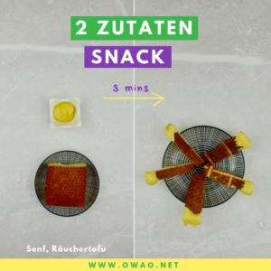 Deftiger 2-Zutaten-Snack-OWAO-Ernährung für Vielbeschäftigte