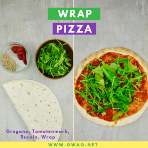 OWAO-Ernährung für Vielbeschäftigte-Wrap Pizza-Meal Prep-Meal Prep Vegan