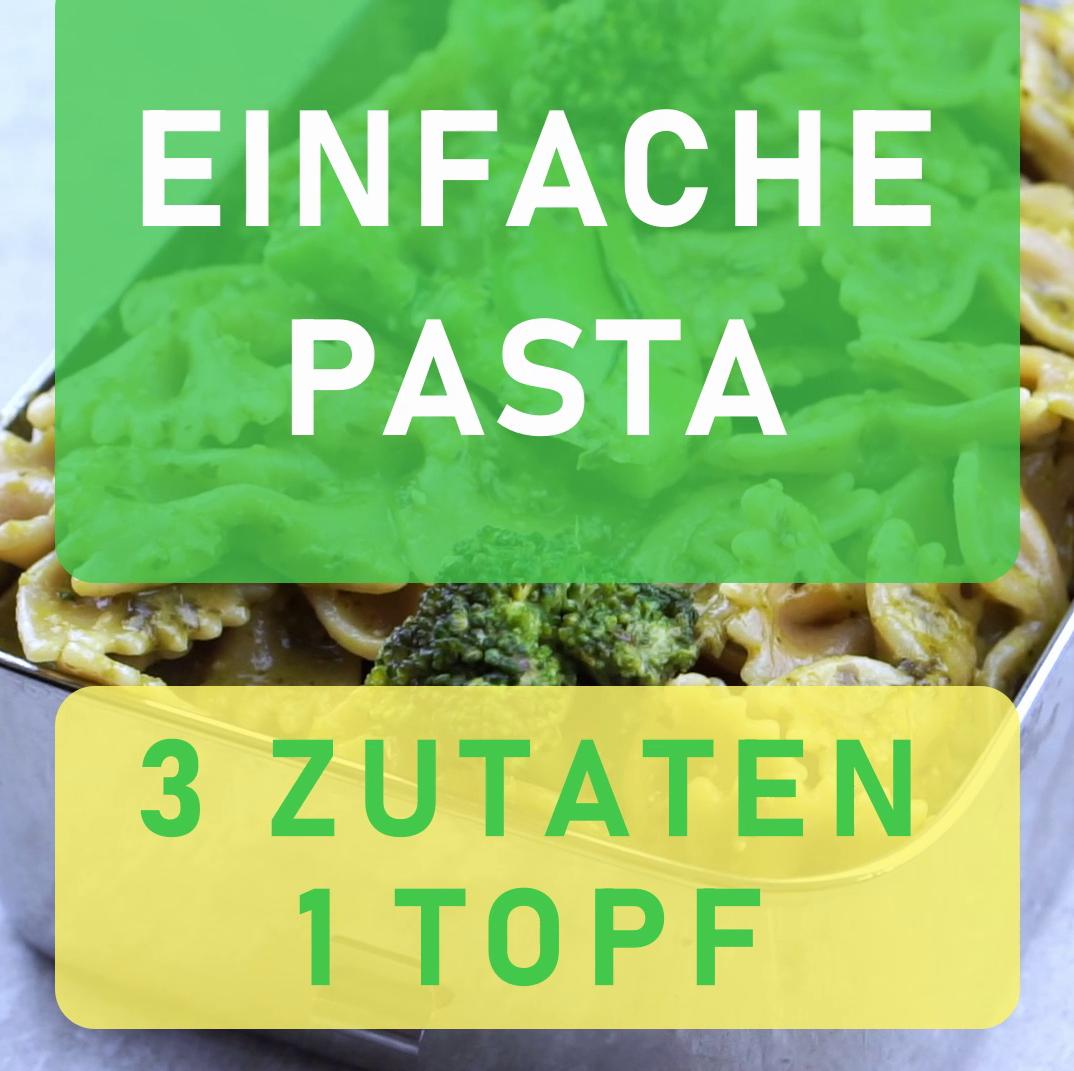 One Pot Nudel-One Pot Gericht-One Pan Gericht-1 Topf-Nudeln mit Pesto