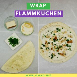 Wrap Flammkuchen-Vegane Proteinquellen-OWAO