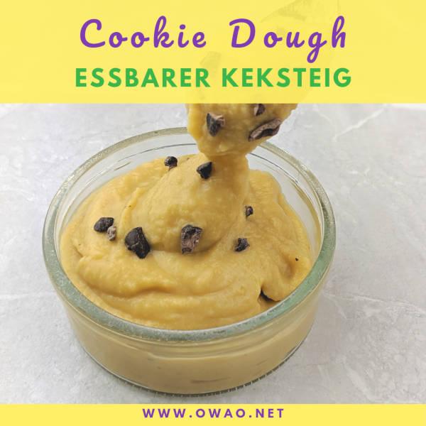 Cookie Dough-essbarer Keksteig-vegan-glutenfrei-ohne Haushaltszucker