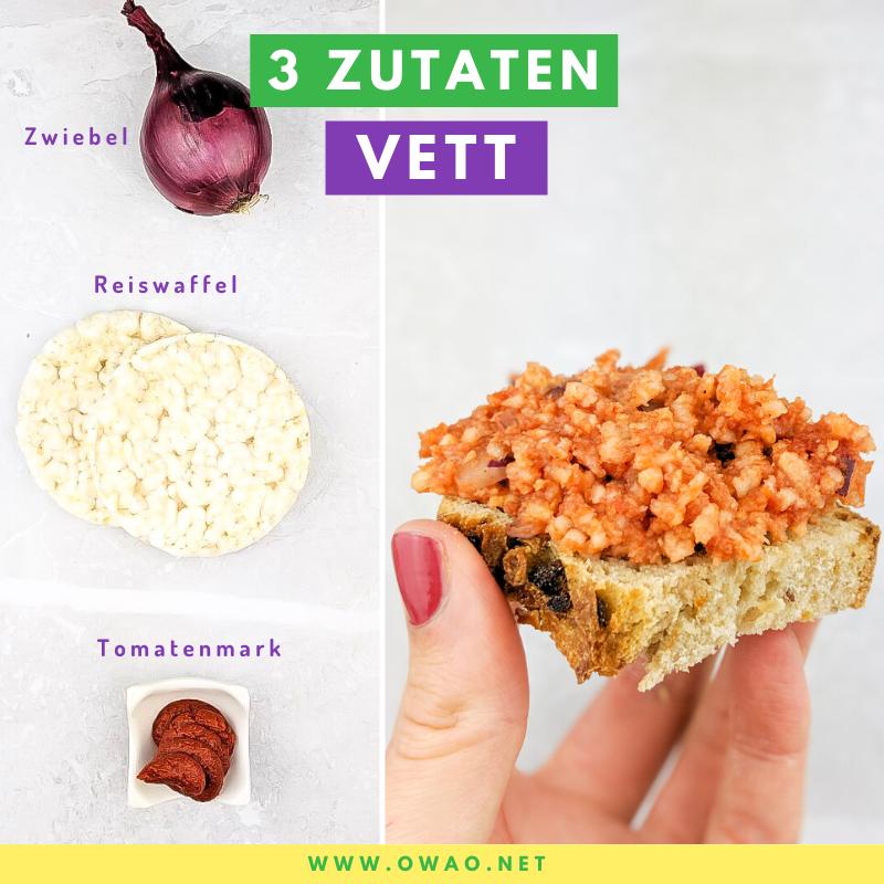 Hackepeter-vegan-OWAO!-Meal Prep-Ernährung für Vielbeschäftigte