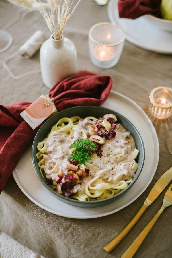 Herbstrezepte-Apfel-Maronen-Pasta-OWAO-Ernährung für Vielbeschäftigte-Meal Prep