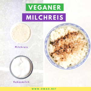 Milchreis kochen-Reisbrei-Milchreis vegan