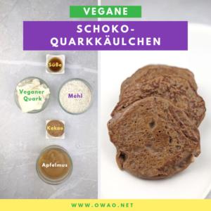 Vegane-Schokoquarkkäulchen-Meal Prep-Essen zum vorbereiten-Ernährung für Vielbeschäftigte