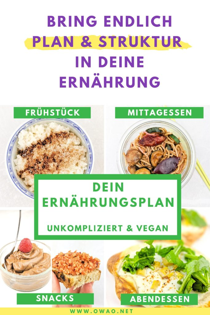 Veganer Ernährungsplan-OWAO!-Meal Prep