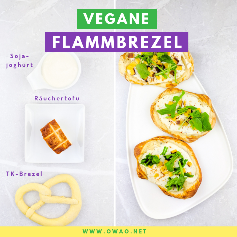 Veganer Ernährungsplan-Vegane Flammbrezel-OWAO!-Meal Prep