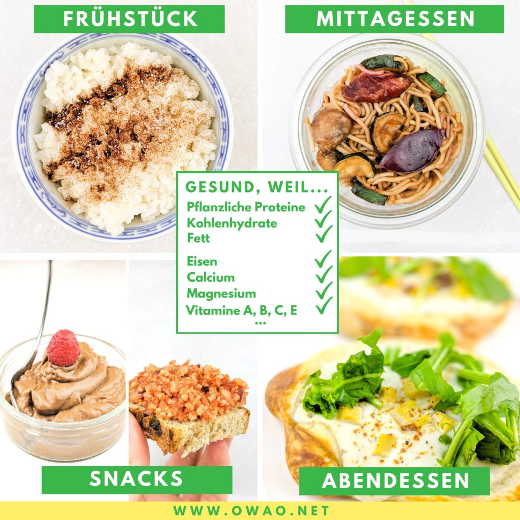 Veganer Ernährungsplan-gesunder Ernährungsplan-3-Tages-Ernährungsplan