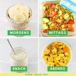 Ernährungsplan Fettabbau-vegan abnehmen-OWAO!-Meal Prep-Ernährung für Vielbeschäftigte