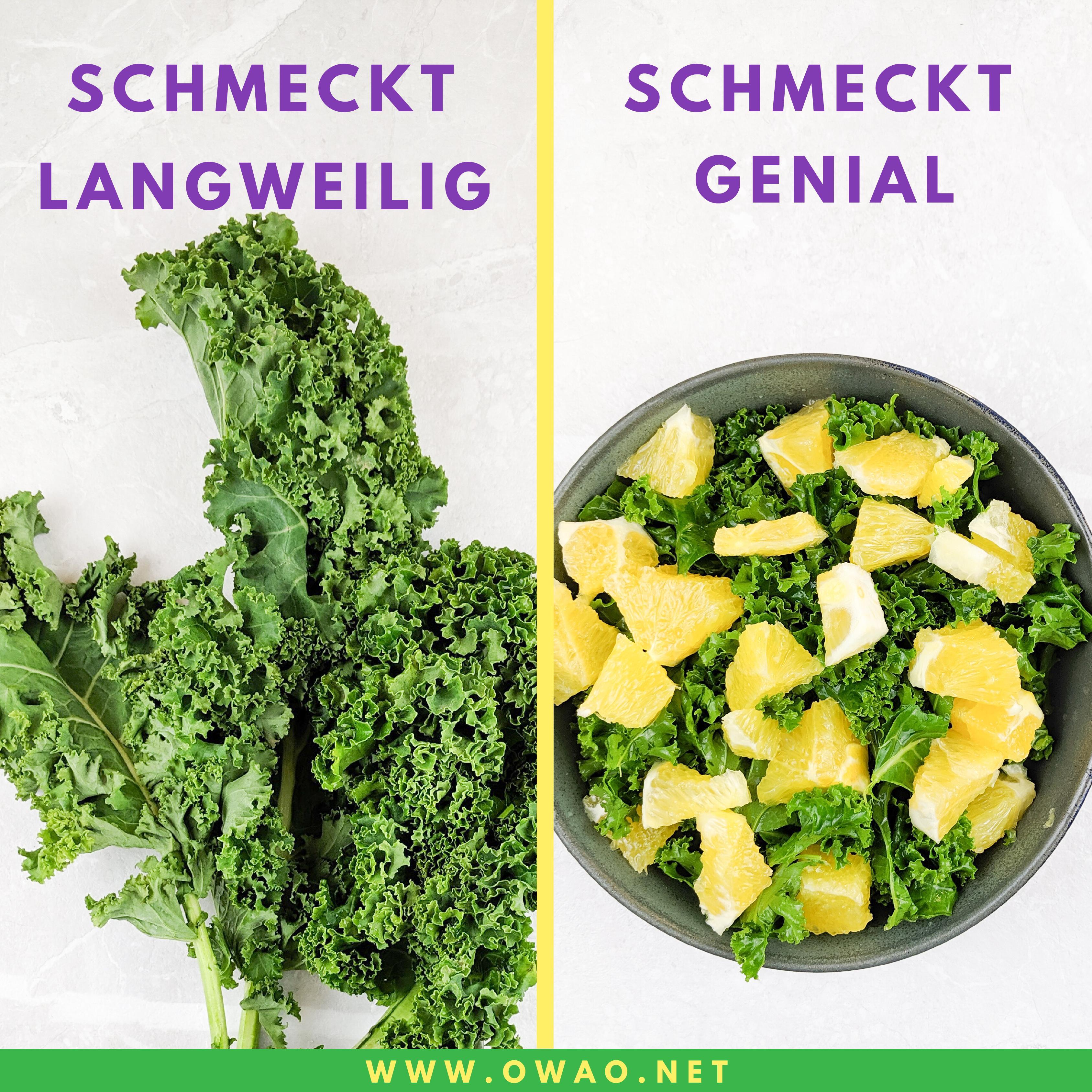 Grünkohl Rezept-OWAO!-Ernährung für Vielbeschäftigte-Meal Prep-Meal Prep vegan