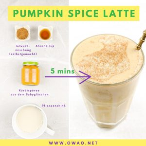 Pumpkin Spice Latte-OWAO!-Meal Prep-Ernährung für Vielbeschäftigte-Kürbis