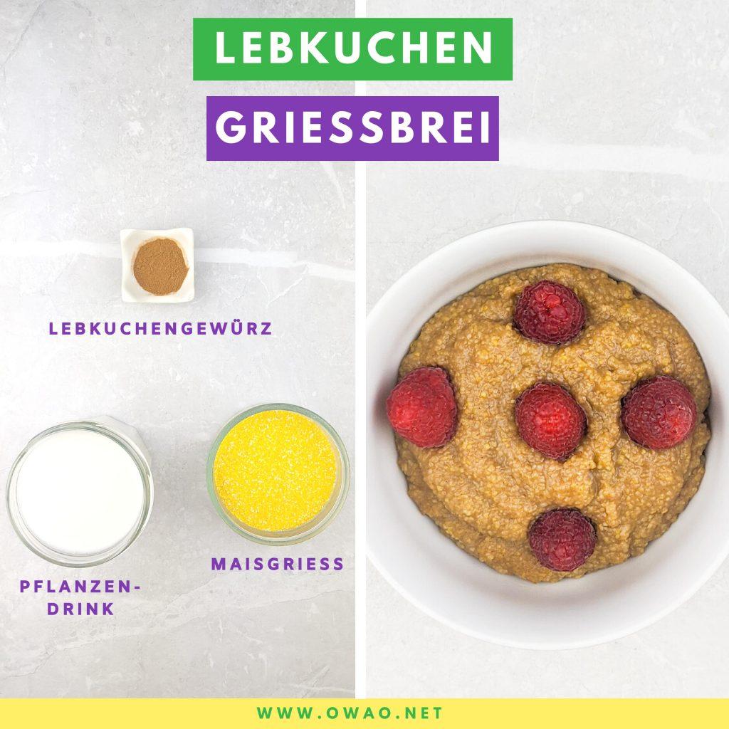 OWAO!-Meal Prep-Meal Prep vegan-Grießbrei ohne Ei-Grießbrei ohne Milch-Grießbrei