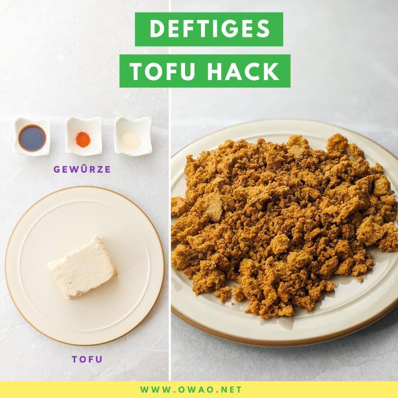 Vegane Gerichte-Veggie Hack selbst gemacht-OWAO!-Meal Prep-Meal Prep vegan