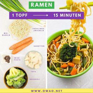 Veganes Mittagessen-Ramen-Meal Prep-Meal Prep vegan-OWAO!-Ernährung für Vielbeschäftigte