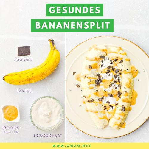 Bananensplit: Dieses vegane Bananensplit toppt alles!