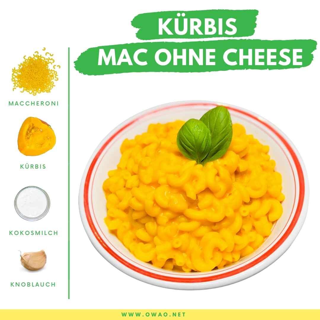 Kürbisgemüse: Super cremiges Kürbis Mac ohne Cheese