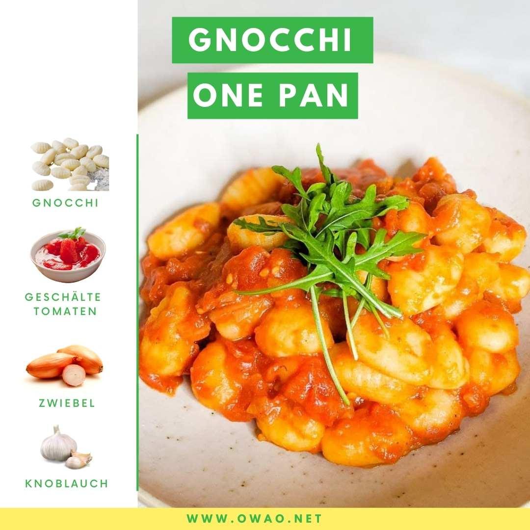 Gnocchi Pfanne mit Tomaten: Nur 4 Zutaten und 10 Minuten