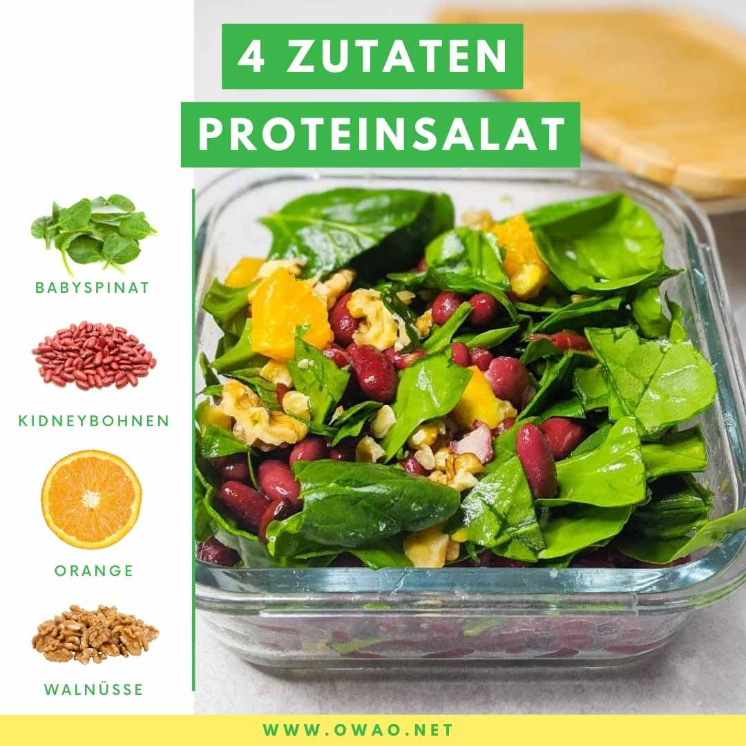 Eiweiß pro Tag: Dieser Salat deckt 50% deines Tagesbedarfs