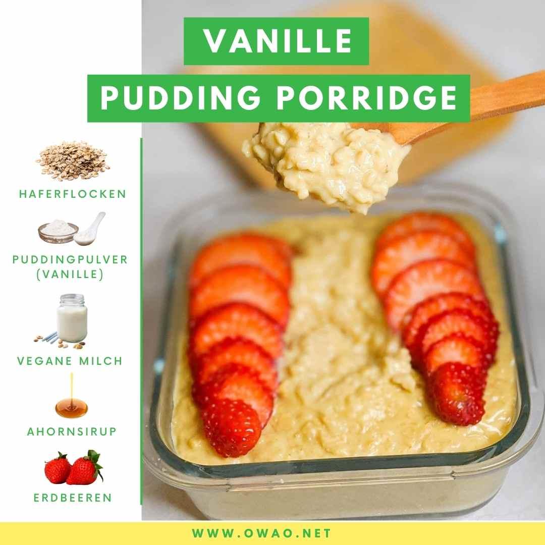 Proteinreiches Frühstück: Pudding Porridge aus nur 4 Zutaten