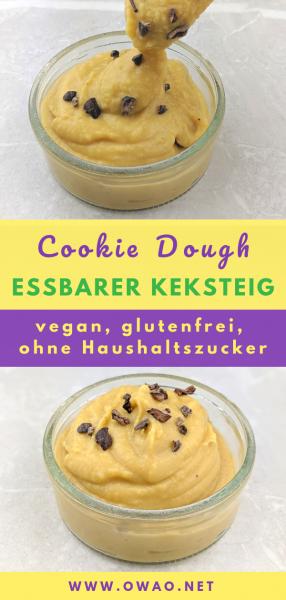 Cookie dough-essbarer Keksteig-vegan-glutenfrei-ohne Zucker